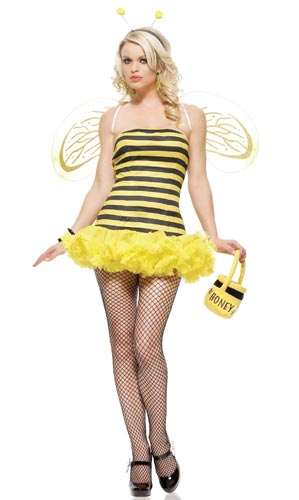 Sexy bumblebee halloween costume.