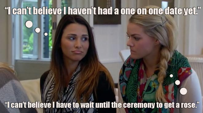 Andi and Nikki worry about the one on one date with Bachelor Juan Pablo in New Zealand.