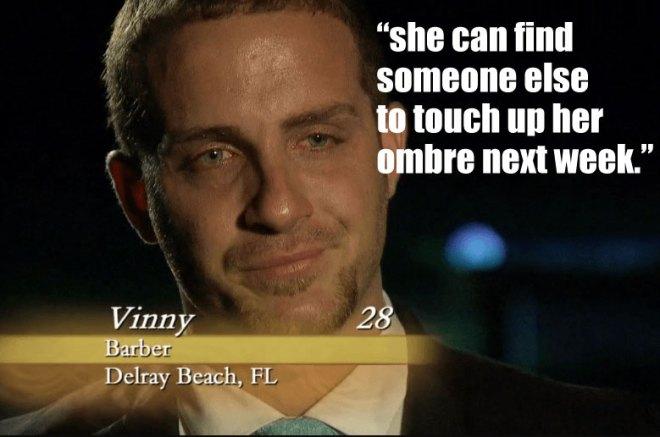 vinny leaves JoJO and the bachelorette.