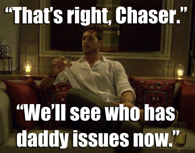 Chase and JoJo in the fantasy suite on the Bachelorette.