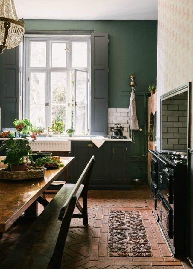 Dark Green Paint Colors Autumnal Green Inspiration Hello Lovely