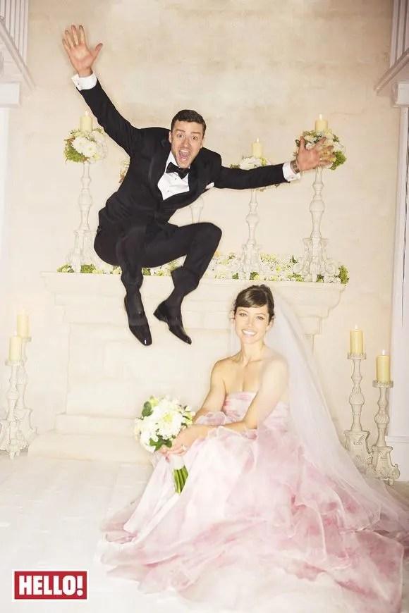 Justin Timberlake Jessica Biel wedding photo