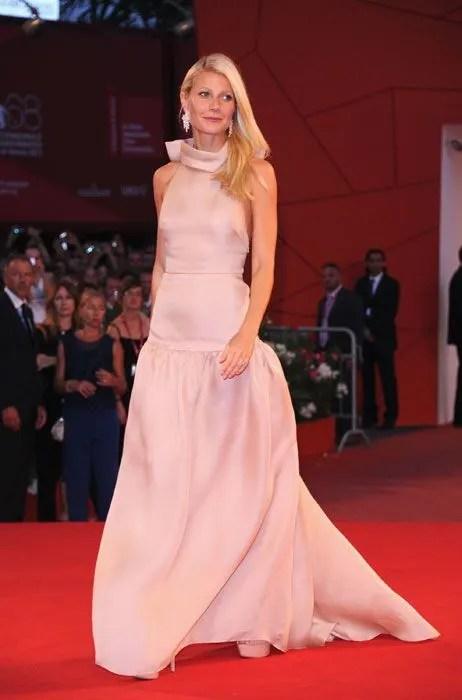Gwyneth Paltrow Pretty In Pink Prada At Venice Film