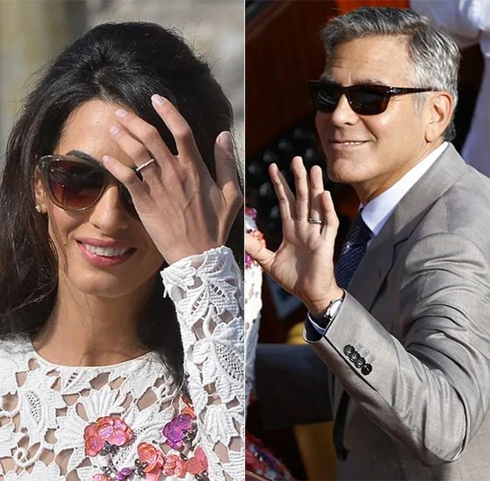George Clooney And Amal Alamuddin Wedding Rings