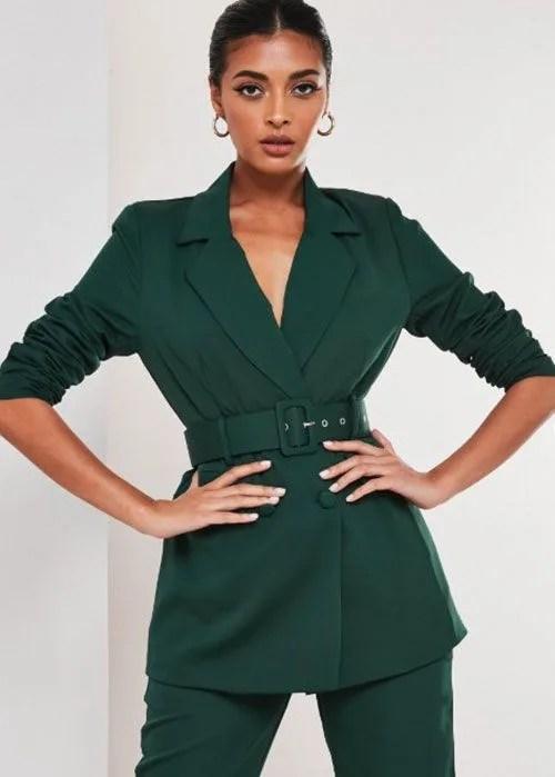 Missguided green blazer
