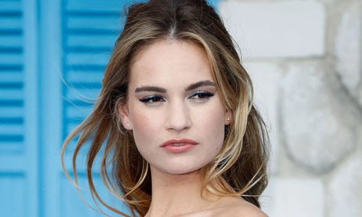 Lily James finally takes part in first interview following ...