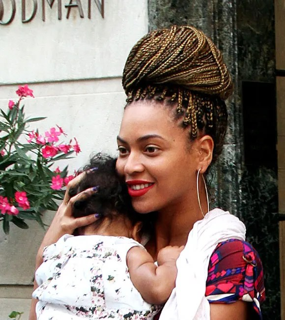Beyonce Debuts New Blonde Braids On Outing With Blue Ivy
