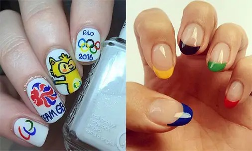 Beautiful Nail Art Games And Paint One With An Olympic Rings Pattern For Eye