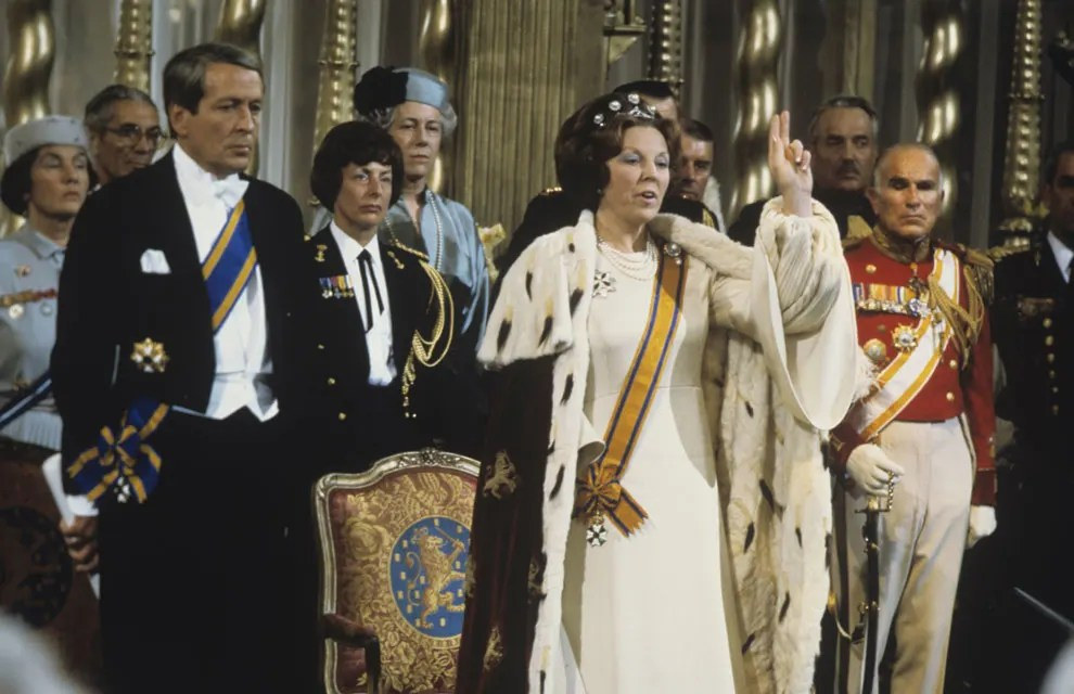 Queen Beatrix of the Netherlands at her coronation