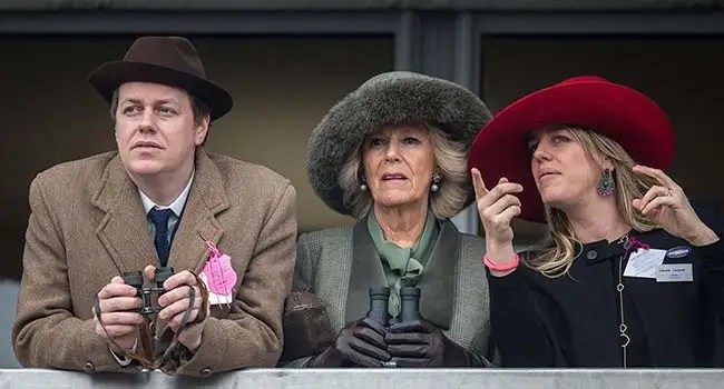 Camilla and children all smiles at Cheltenham Races | HELLO!