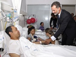 Image result for Barcelona van attack: Spain's king Felipe visits victims in hospital