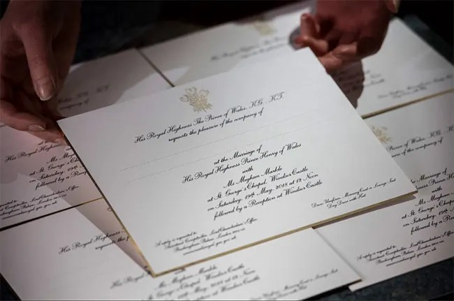 Meghan Markle And Kate Middleton S Wedding Invites See How