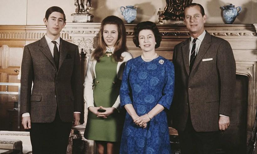 família real britânica nos anos 60.