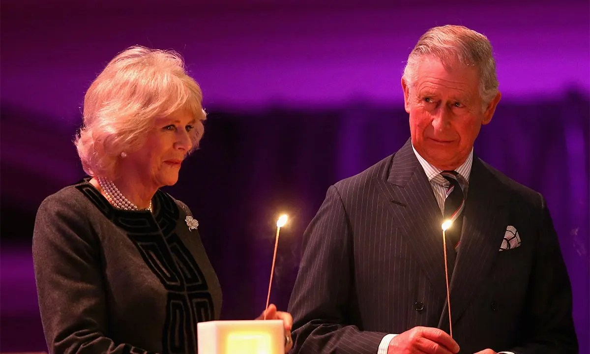 prince charles and camilla light candles at highgrove house during moving memorial ceremony video hello