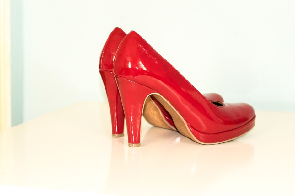 red shoes are made for walking