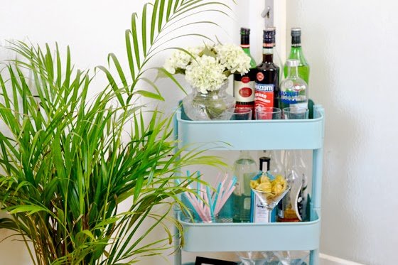 Tipsy Tuesday: How to style a bar cart