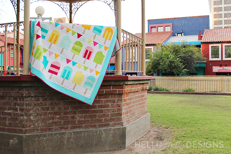 Popsicle Parade Quilt Throw