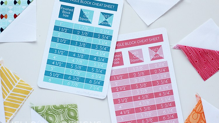 Triangle Block Cheat Sheet: Free Printable