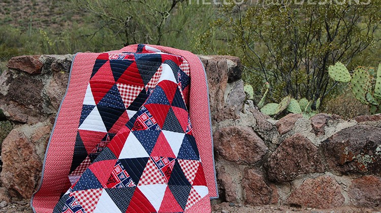 University of Arizona Triangle Quilt