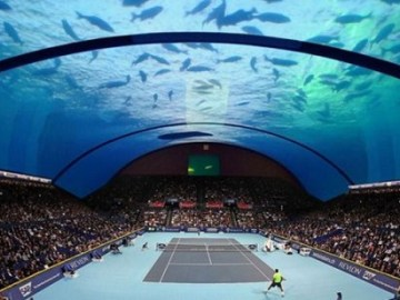 stadium tennis bawah laut