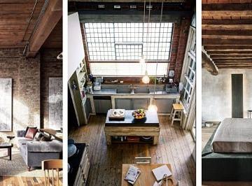Rustic Industrialis apartemen