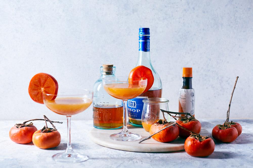 Spiced Persimmon Bourbon Cocktail | HelloMyDumpling.com
