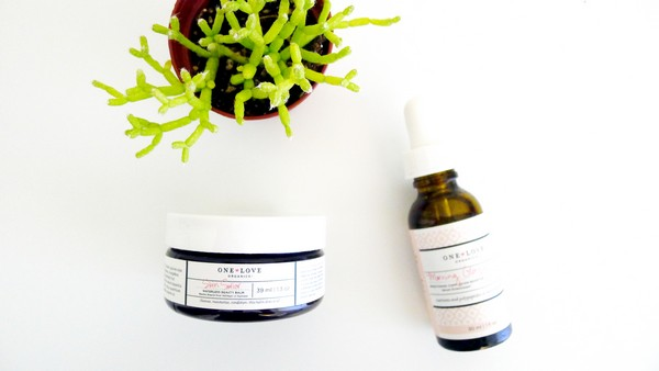 One Love Organics Natural Skin Care | Skin Savior Beauty Balm + Morning Glory Serum Review