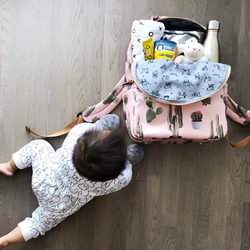 What's In My Diaper Bag | Super Cute Cactus Backpack