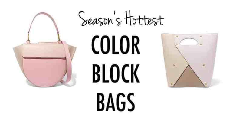 Season's Hottest Color Block Bags