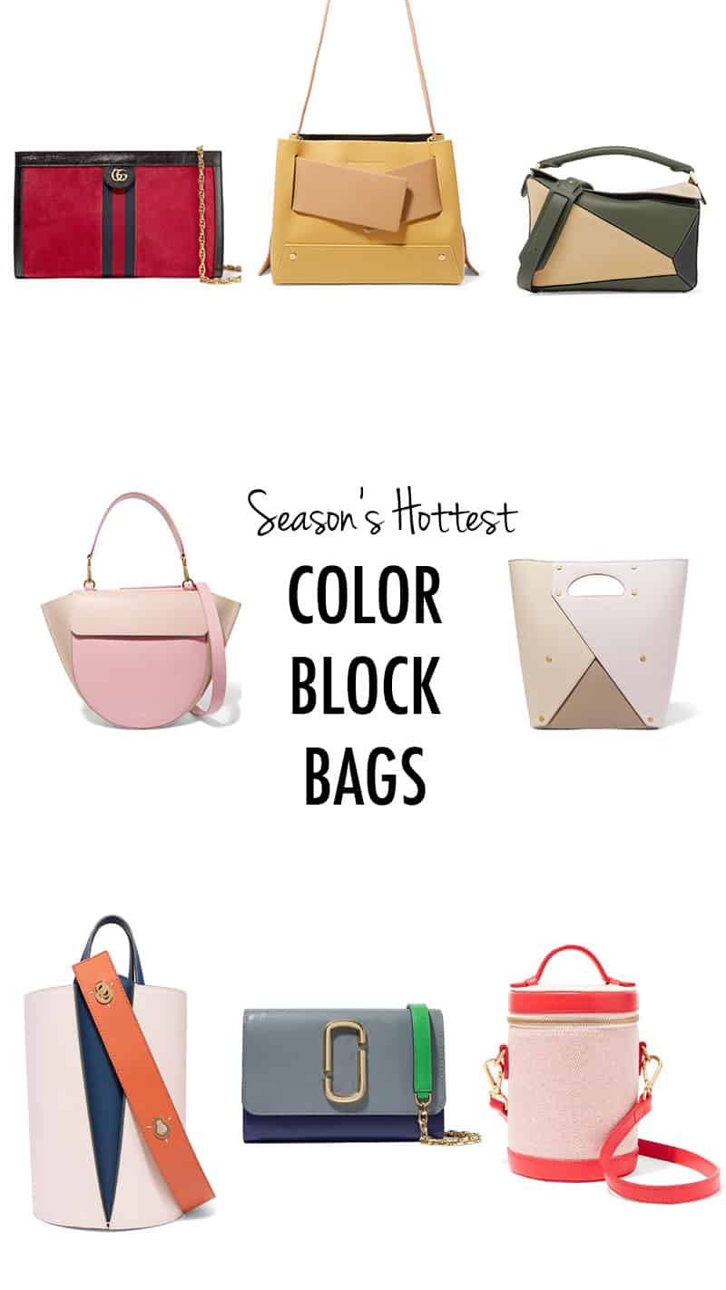 Color Block Bags Hellonance.com