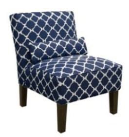 Morrocan print chair