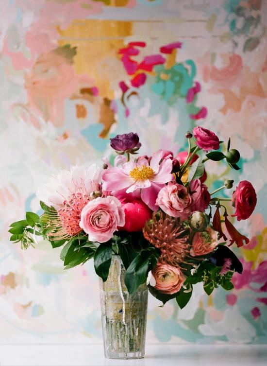 Painterly-flower-arrangement