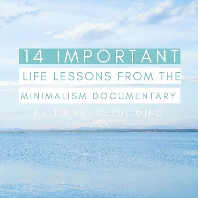 Did you watch the Minimalism a documentary about the importanthellip