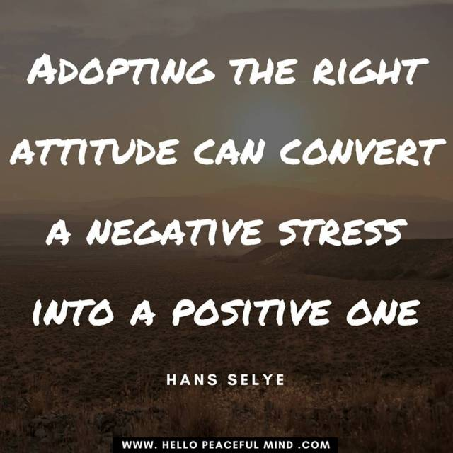 Adopting the right attitude can convert a negative stress intohellip