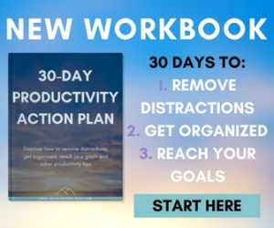 Discover how to become more productive with the 30 day productivity action plan!