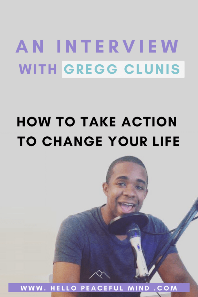 Discover how Gregg Clunis started the top rated podcast, Tiny Leaps Big Changes and get tips to start changing your life today on www.HelloPeacefulMind.com