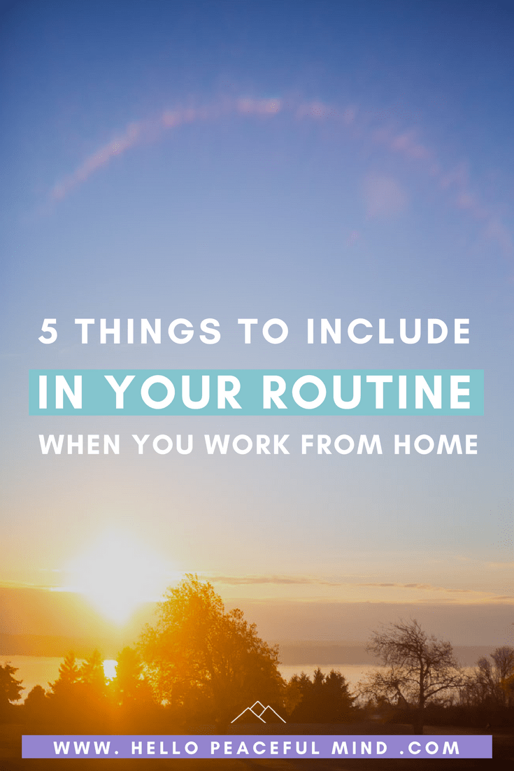 Do you need to create a new routine because you are working from home or a stay at home mom? Here is everything you need!