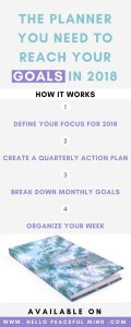 Best planner for 2018 to help you plan and reach your goals, create new habits and think about self-care. Get your copie today!