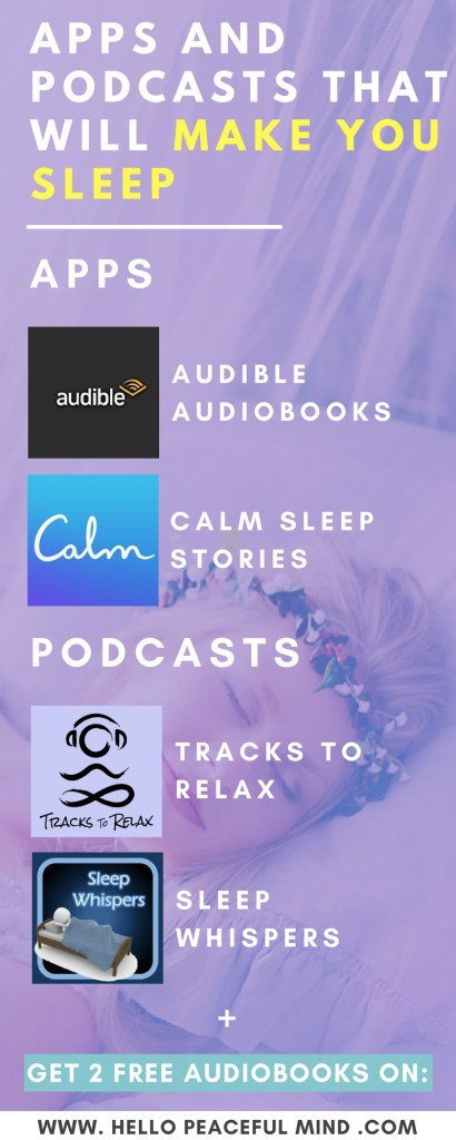 Do you have trouble sleeping? Check out these apps and podcasts that will help you relax and fall asleep on www.HelloPeacefulMind.com