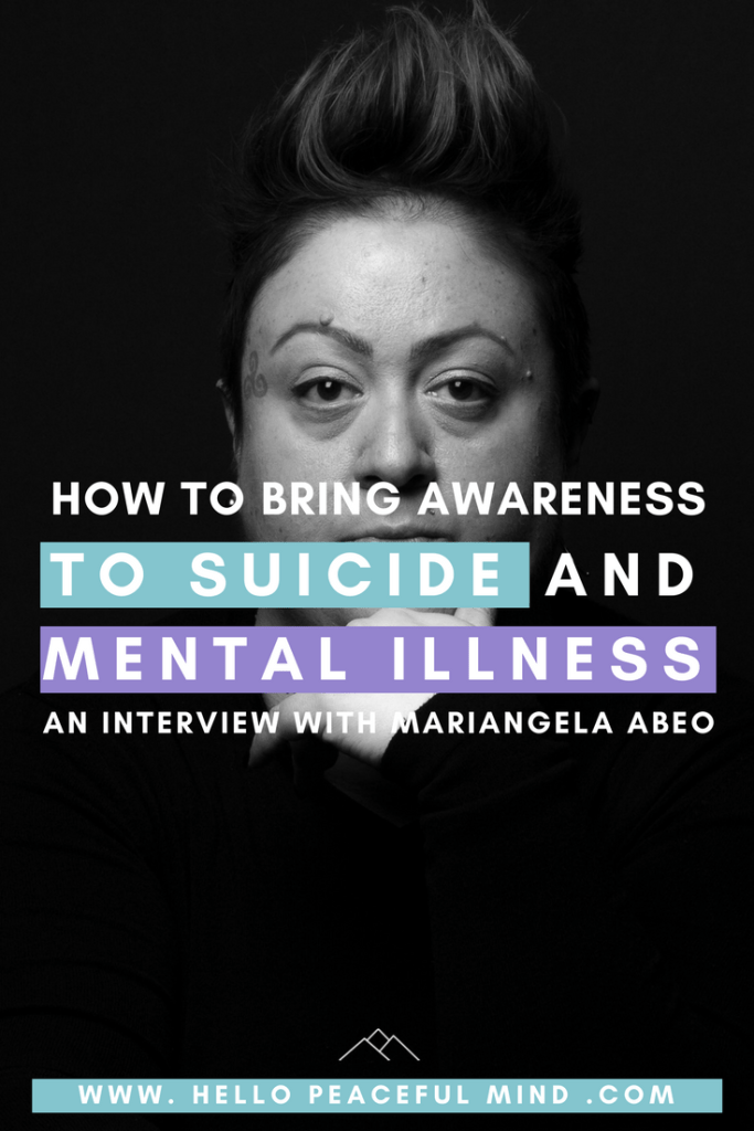 Discover how Mariangela Abeo brings awareness to suicide and mental health with her project Faces Of Fortitude