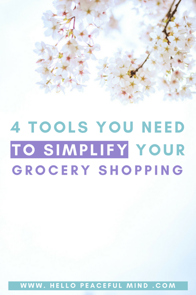 These 4 tools will help you simplify you experience at the grocery store.