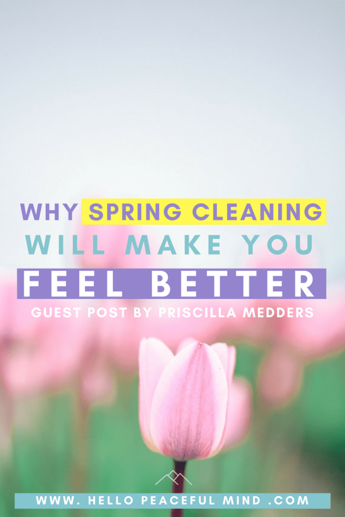 Did you know that spring cleaning was also good for your mental health. Find out why on www.HelloPeacefulMind.com #springcleaning #mentalhealthmatters