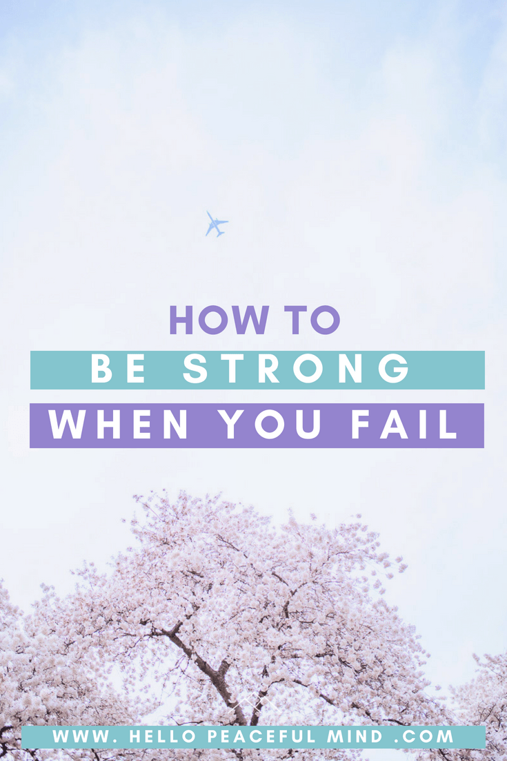 Find out how to stay strong when you are dealing with failure. #success #youcandoit #failure #riseup