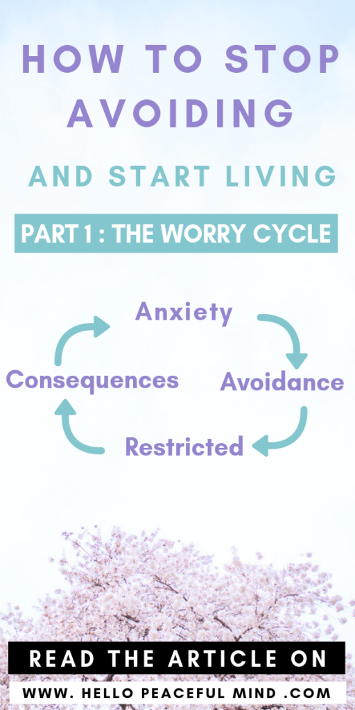 Read the full article to learn how to stop avoiding and start living! #selfhelp #mentalhealth #therapy #anxiety