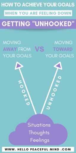 """How To Achieve Your Goals When You Are Down: Getting """"Unhooked"""" Infographic"""