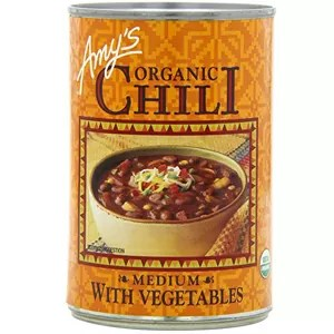 Amys Organic Chili with Vegetables, Medium, Vegan, USDA Organic