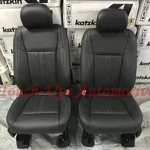 Ford F-150 SuperCrew XLT Katzkin Black Leather Seat Covers