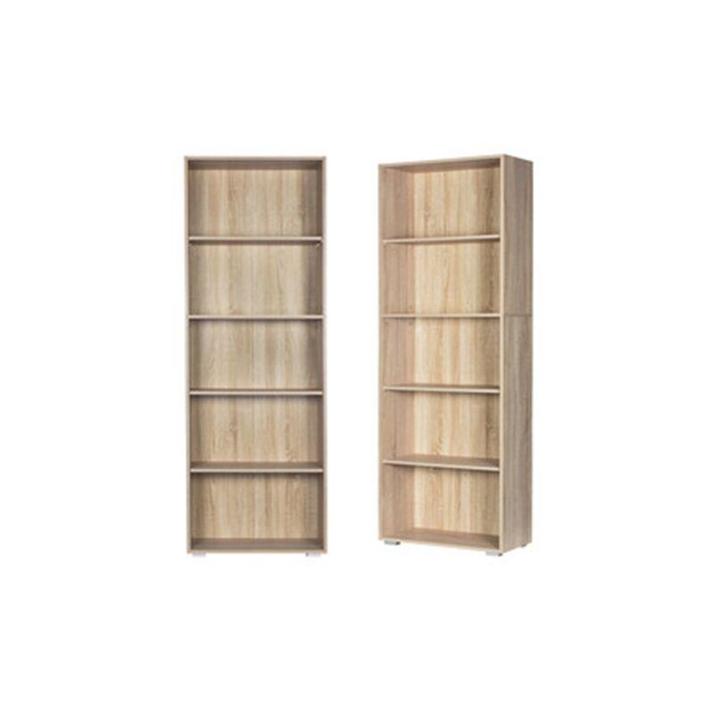 etagere bibliotheque meuble de rangement stockage 5 types avec ou sans porte 5 facher eiche de
