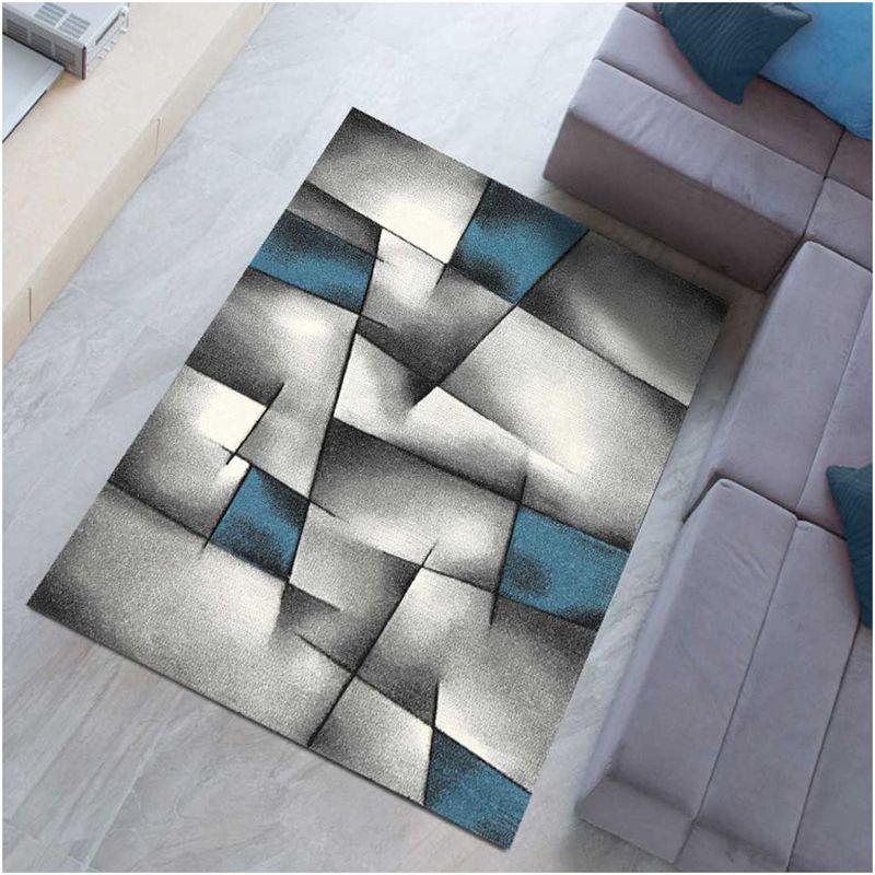 un amour de tapis grand tapis salon et salle a manger tapis salon moderne design poils ras tapis chambre turquoise tapis bleu gris 240x340 cm