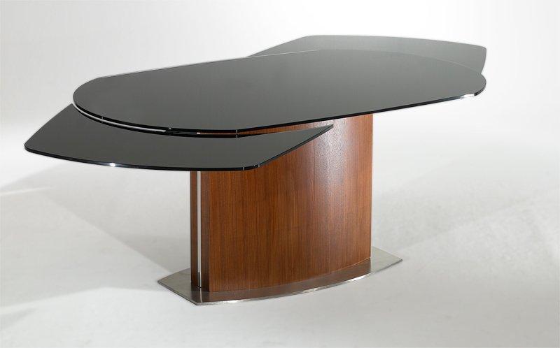 table de repas saturn noir noyer